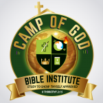 Camp of God Bible Institute (COGBI) Logo [ Green & Gold]